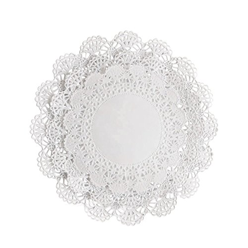 300 White Paper Lace Doilies Variety Pack of 4, 5 and 6 (100 of each size) by The Baker Celebrations