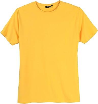 Kitaro Camiseta básica Amarilla Oversize: Amazon.es: Ropa y accesorios