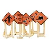 Lionel Orange Construction Zone Signs #2