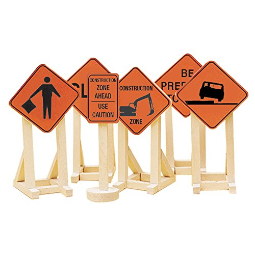 Lionel Orange Construction Zone Signs #2