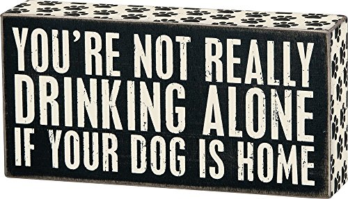 Primitives by Kathy 23477 Paw Print Trimmed Box Sign, 8