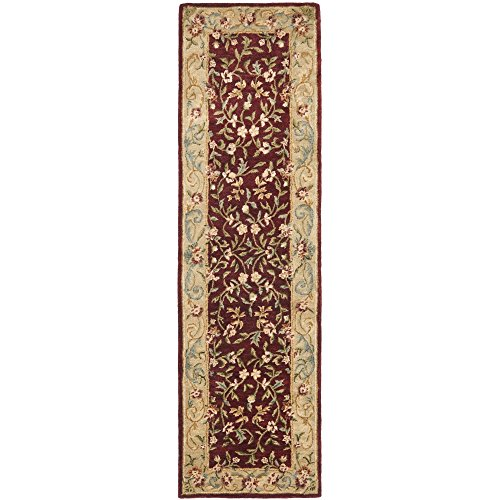 Safavieh Bergama Collection BRG164A Handmade Red and Dark Beige Premium Wool Runner (2'3