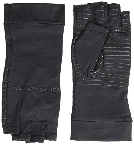 6e1511ba48 Tommie Copper Women's Recovery Fingerless Gloves, Black, - Import It All