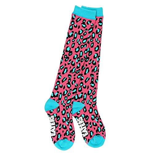 - Leopard Knee High Socks - Pink - Funky, Crazy, Fun, Soccer, Derby, Lacrosse Socks
