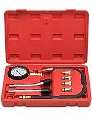 Kapsco Moto Engine Cylinder Compression Tester Gauge Kit Professional Mechanics Gas Engine
