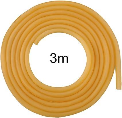 Natural Latex Rubber Tube 3m 6x9mm Strong Latex Band Tube for Slingshot Catapult Surgical Tube Elastic Fitness Band Sprinkler Tube