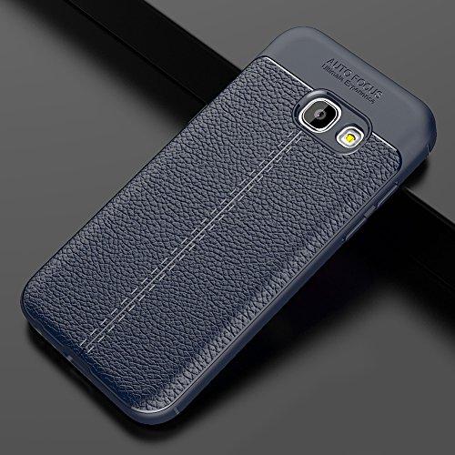 Samsung Galaxy A7 (2017) Hülle, MSVII® Anti-Shock Weich TPU Silikon Hülle Schutzhülle Case Und Displayschutzfolie für Samsung Galaxy A7 (2017) - Blau JY90011