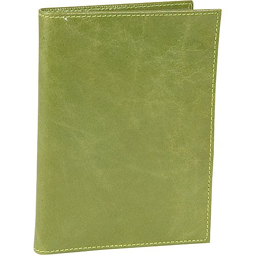 Budd Leather Distressed Passport Case Green