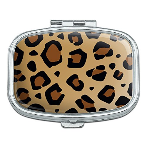 Leopard Print Animal Spots Rectangle Pill Case Trinket Gift Box ()