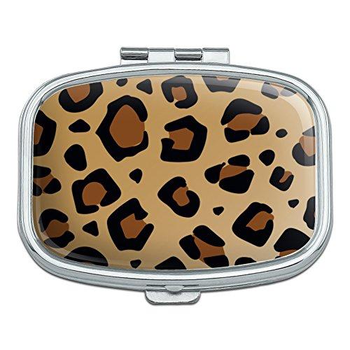 Leopard Print Animal Spots Rectangle Pill Case Trinket Gift Box