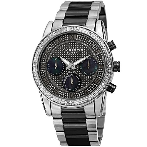 Akribos Diamond Accented Multifunction Men