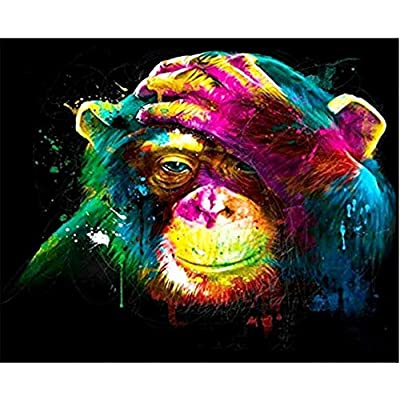 Color Monkey Oil Painting Jigsaw Puzzle 200 Pieces for Adults Children Puzzle DIY Gifts Indoor Toys Game Difficulty Fun Relax: Home & Kitchen