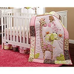 Carter's Monkey Jungle Collection 4 Piece Crib Set for girls