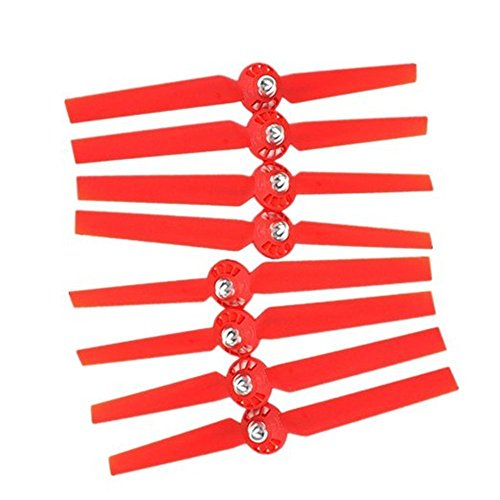 Katoot@ 4 Pairs Black Propellers Rotor Blade Sets A & B for YUNEEC Typhoon G Q500 Q500+ Q500 4K RC Air Force Airplane Helicopter Propeller Quadcopter Drone Red