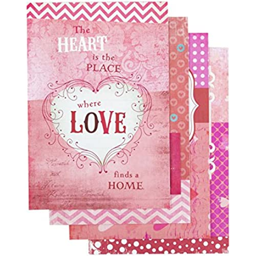 DaySpring Valentine's Day Boxed Greeting Cards w Embossed Envelopes - Words of Love, 12 Count (43354) Sales