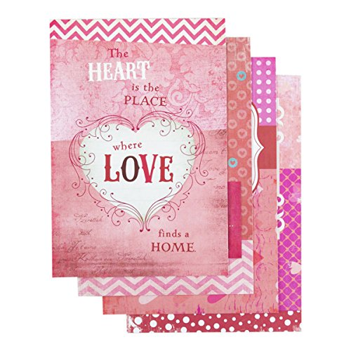 DaySpring Valentine's Day Boxed Greeting Cards w Embossed Envelopes - Words of Love, 12 Count