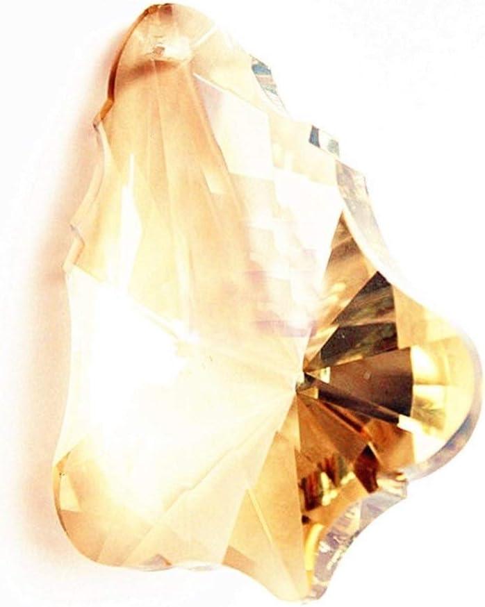 Accesorios 20pcs 63mm Gotas Colgantes Champagne Calabaza prismas de Cristal cristalinos Suncatcher Colgantes for Las lámparas de la lámpara Spectra Lustres Regalo