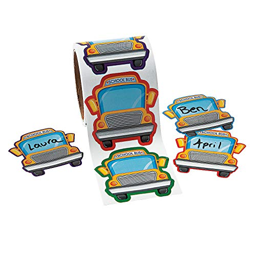 (Fun Express - School Bus Name Tags - Stationery - Stickers - Name Tags - 1 Piece)
