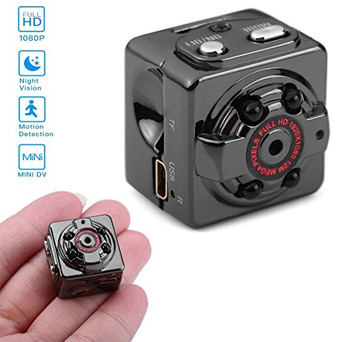 Cube Mini Mac (SOLOLIFE 1080P HD Mini Hidden Camera Portable Motion Detection Body Camera Video Recorder with Night Vision,Surveillance Spy Nanny Cam for Indoor and Outdoor)