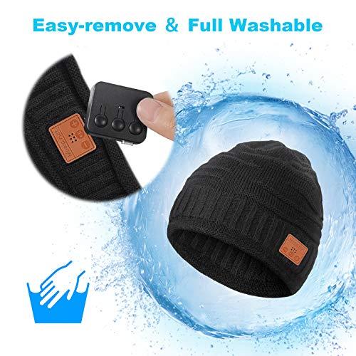GREENEVER 2020 Gifts for Men & Women Bluetooth Beanie – Stocking Stuffers for Men & Women Knit Hat for Men Bluetooth Hat…