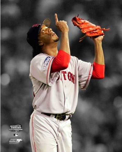 World Pictures 2004 Series - Pedro Martinez Boston Red Sox 2004 World Series Game 3 Spotlight Photo 8x10