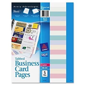 Amazon bct 5 avery non stick tabbed business card holder pages bct 5 avery non stick tabbed business card holder pages 100 business card colourmoves