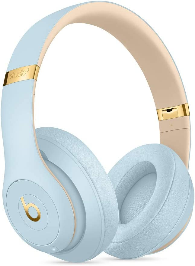 Beats S.t.u.d.io_3 Wireless Headphones Skyline Collection with Carrying Case,3.5mm RemoteTalk Cable and Universal USB Charging Cable Crystal Blue