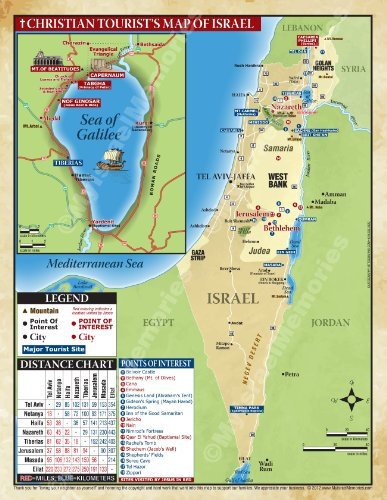 The Israel LAP MAP for the Christian - Site Israel