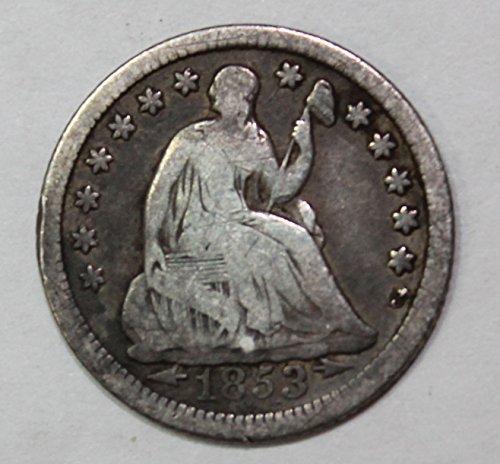 Dime Arrows 1853 - 1853 P Seated Half Dime 5c Very Fine