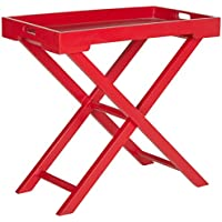 Safavieh American Homes Collection Leo Hot Red Accent Table