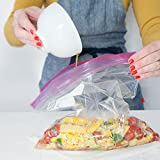 Ziploc Gallon Size Heavy Duty Large Food Freezer Bags Double Zipper (10 Bags)