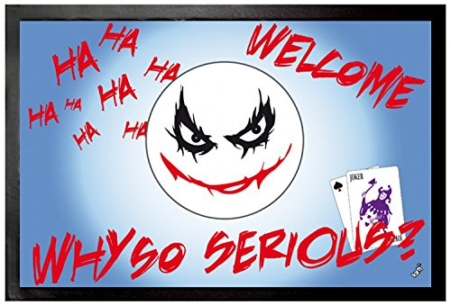 1art1 Emoticons Door Mat Floor Mat - Emoji, Joker, Why So Serious (24 x 16 inches)