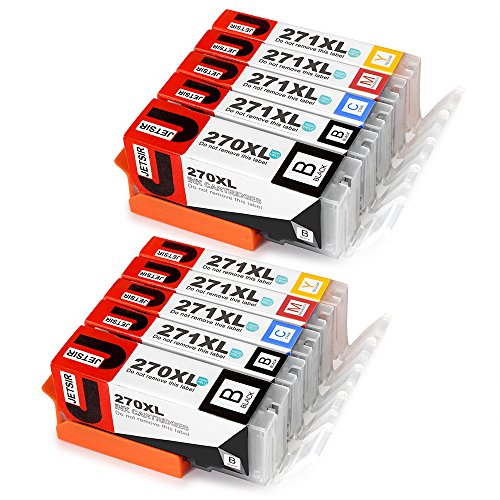 5 Colour Compatible Cartridge - JetSir 5 Color Replacement for Canon PGI-270 XL CLI-271 XL Ink Cartridge 2 Set, Compatible With Canon Pixm MG6820 MG6821 MG6822 MG5720 MG5722 MG5721 TS5020 TS6020 Printers