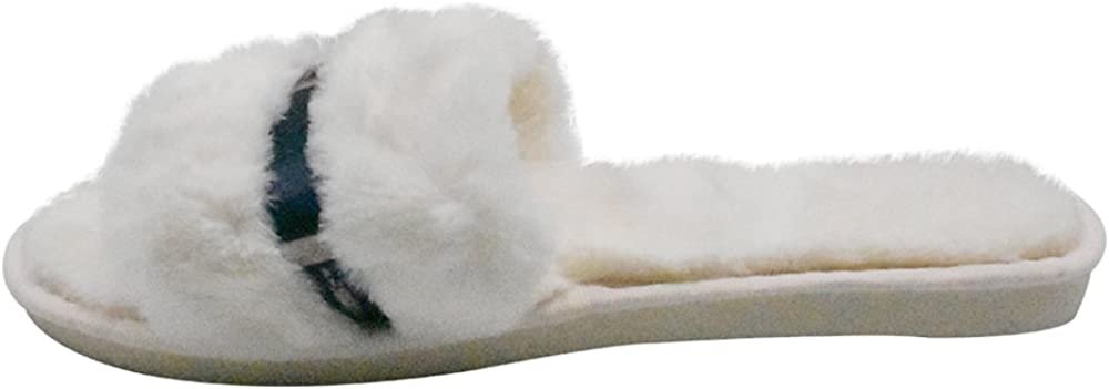 COFACE Mesdames /él/égant Pantoufle de lit Chaud en Peluche Fourrure Tongs Coton Pantoufle Anti-d/érapant Chaussures pour lautomne//Hiver