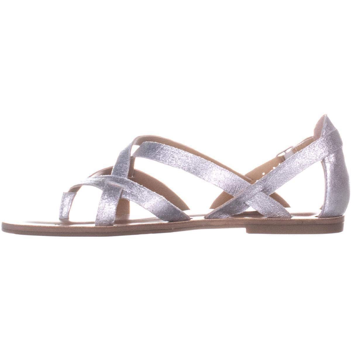 Washed Silver Lucky Brand Womens Ainsley Leather Split Toe Casual Size