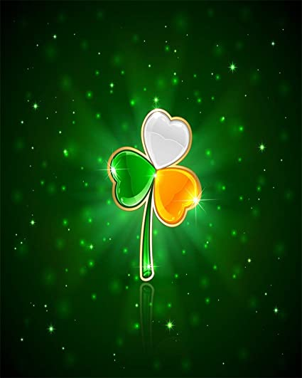 Amazoncom Rbabyphoto Lucky Irish Shamrock Backdrop 3x5ft