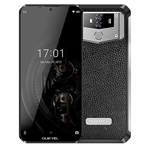 OUKITEL K12 10000mAh Battery Cell Phone 6.3 Inch Waterdrop FHD+ 19.5:9 Display Mobile Phone 6GB RAM 64GB ROM 4G LTE Dual SIM Smartphone International Unlocked 5V/5A 25W Fast Charger NFC Face ID Unlock (The Best Dual Sim Smartphone)