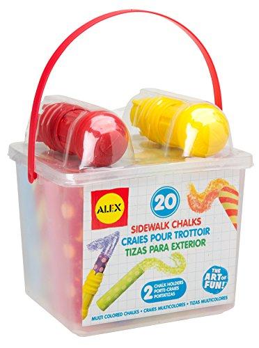 (ALEX Toys Artist Studio 20 Sidewalk Chalks with 2 Holders)