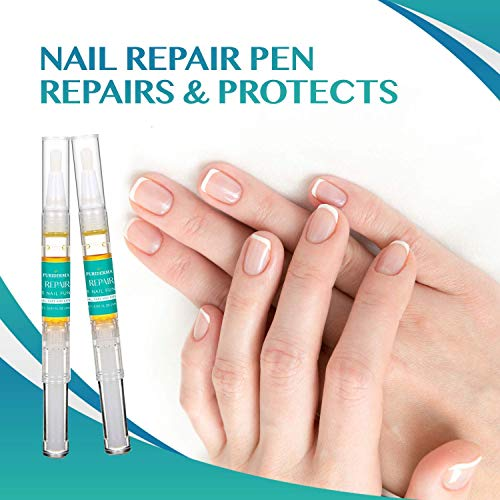Puriderma Nail Repair Pen - Kills Anti-Fungus, Remove Discoloration, Prevent Future infection, Repair Brittle Finger Nails and Toe Nails, 4 Count by Puriderma (Image #6)