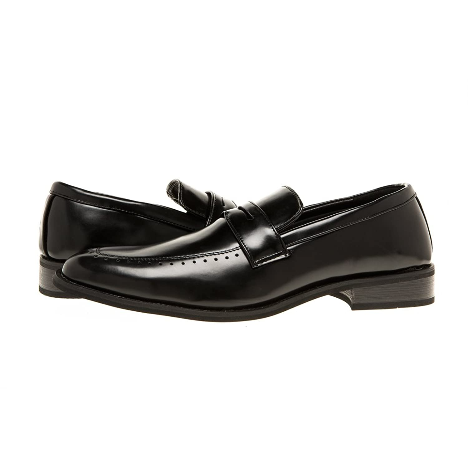Mens Classic Loafer Perforated Slip-On Shoes