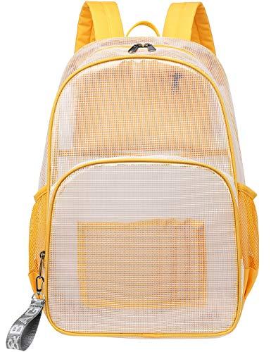 Mygreen Heavy Duty Clear Backpack Durable Multi-Pockets See Through Student School Bookbag...