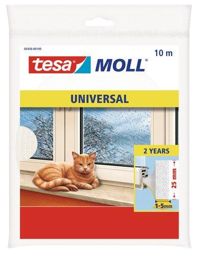 wei/ß 25 mm breit Tesa-Moll Universal Abdicht-Schaumstoff 10 m