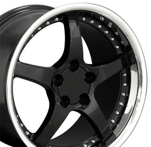 OE Wheels 18 Inch Fits Chevy Camaro Corvette Pontiac Firebird C5 Deep Dish Style CV05 Gloss Black 18x10.5 Rim Hollander 5122