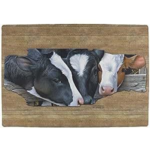 Artículos de molkerei en la granja Vacas todos los Indoor Matte, poliéster, multicolor, talla única