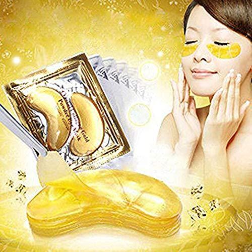 517VMeKMsXL - 30 Pairs Crystal Collagen Under Eye Mask, Gold Collagen Eye Pad For Moisturizing & Reducing Dark Circles, Gold