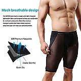 MIZOK Men's Fitness Mesh Shorts Yoga Capris See