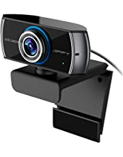 JIFFY Upgrade Wide-Angle HD Camera, 1080P / 1536P Webcam with Dual Microphone, Video Call and Recording for PC, Laptop and Desktop, Plug and Play Web Cam