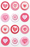 Martha Stewart Crafts Valentine Round Icon Stickers