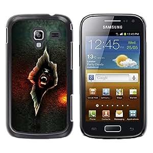 Caucho caso de Shell duro de la cubierta de accesorios de protección BY RAYDREAMMM - Samsung Galaxy Ace 2 I8160 Ace II X S7560M - Vampire Crack