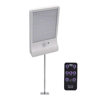 48 luces LED solares de pared para exteriores con sensor de movimiento + mando a distancia